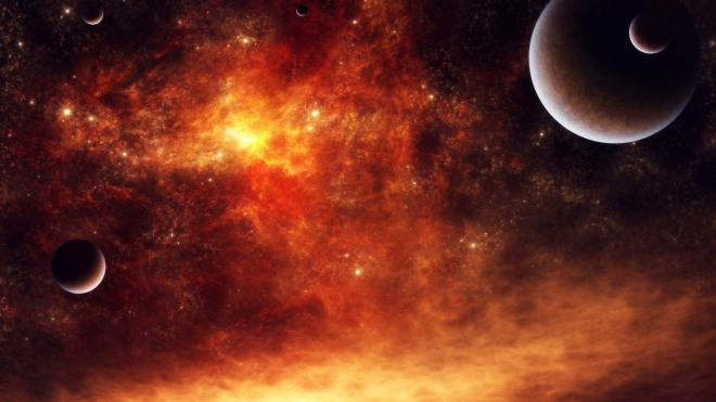 red planets in the universe